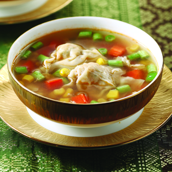 Sup Pangsit Isi Udang