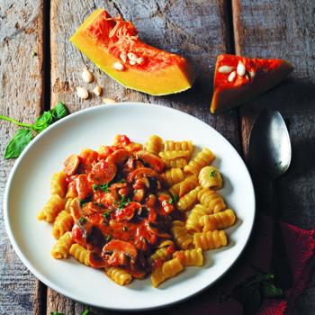 Gnocchi Labu Parang Saus Jamur